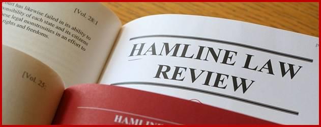 Une photo du Hamline Law Review