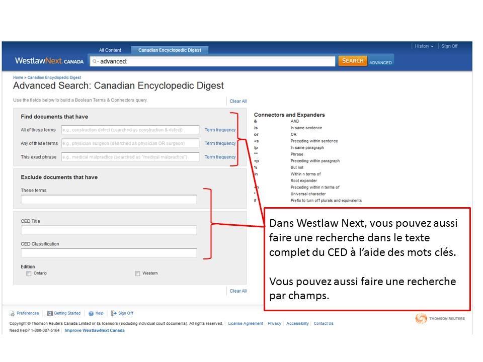 Comment faire une recherche dans la version eacute;lectronique du CED.