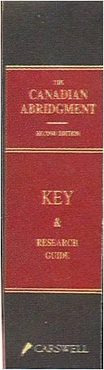 Une photo de la bordure du Canadian Abridgment.