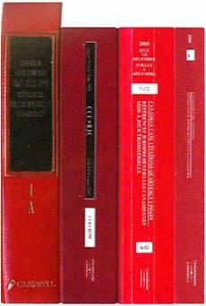 Une photo de mannuels de Canadian Case Citations.